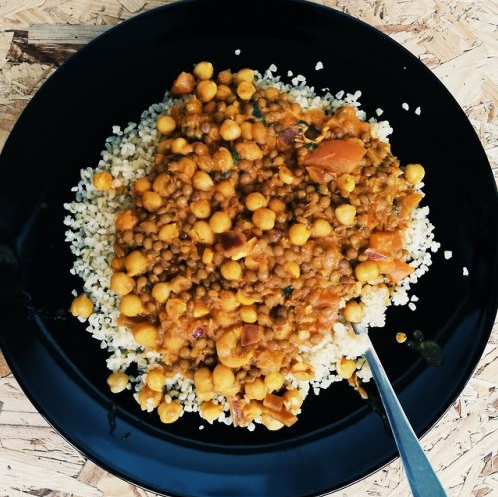 Masala Lentils and Chickpea